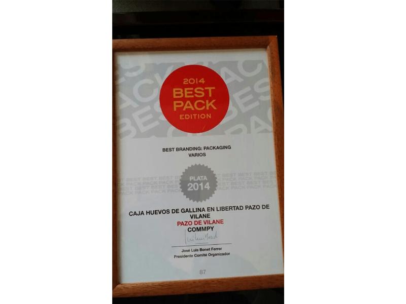 Pazo de Vilane recibe el premio Best Pack 2014