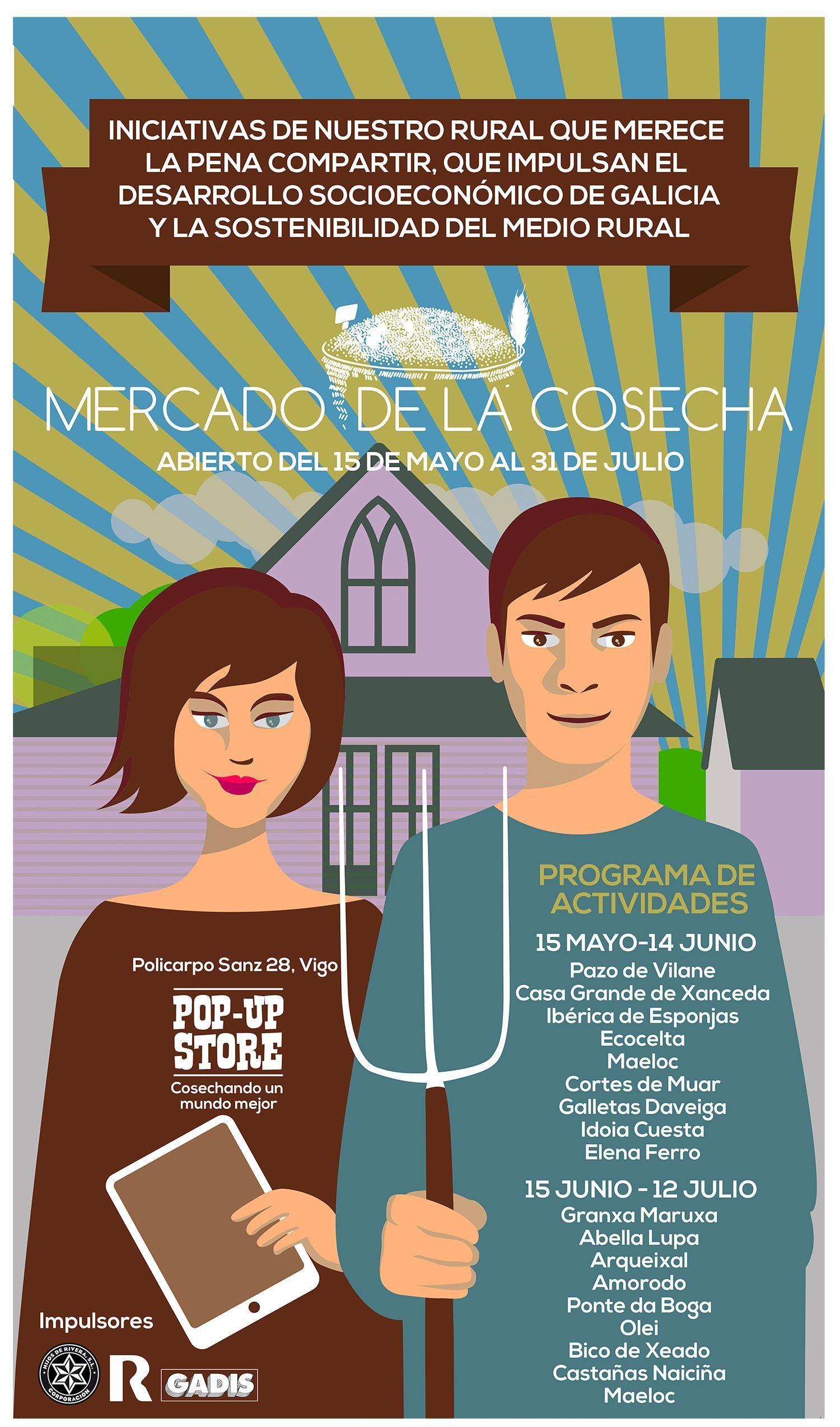 Pazo de Vilane participa en Vigo del pop – up store del Mercado de la Cosecha
