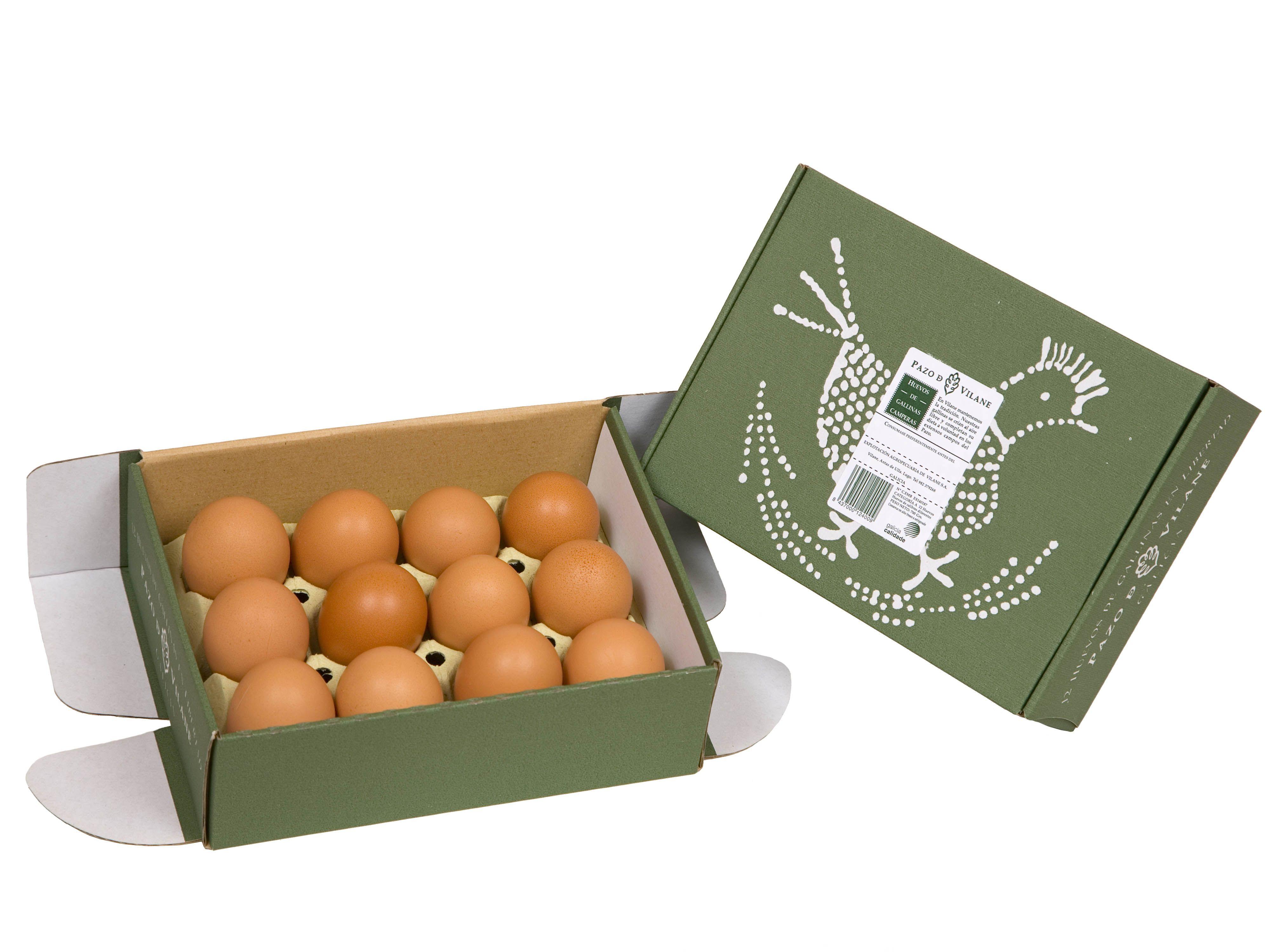 El huevo campero Pazo de Vilane a la venta en supermercados Eroski de Galicia