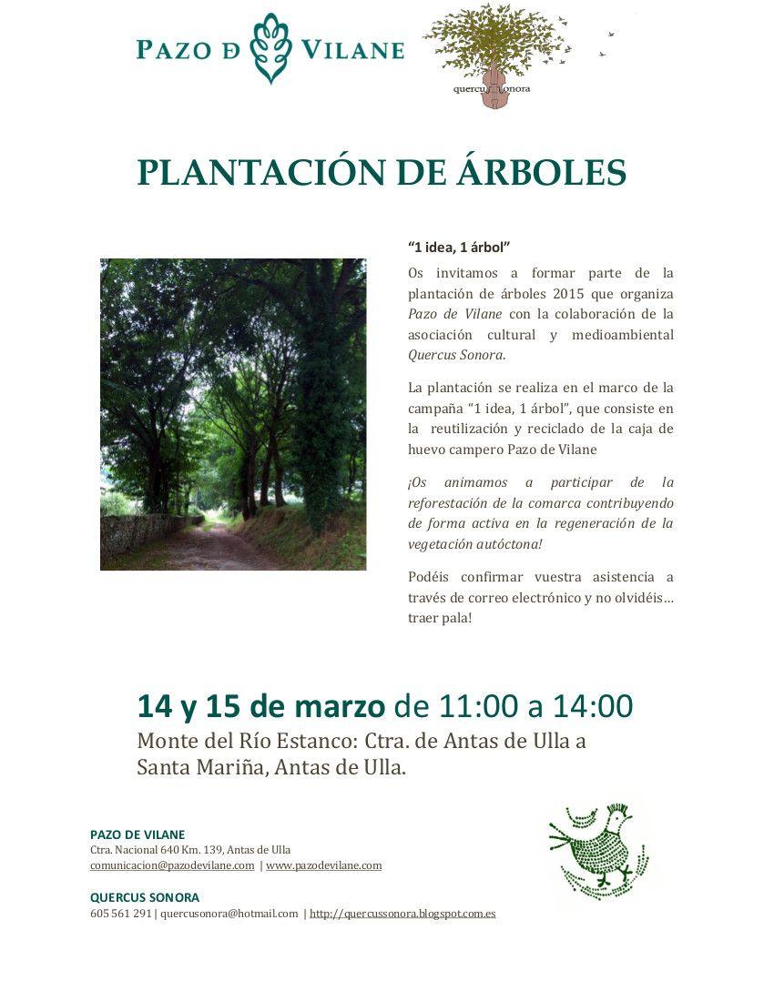 Pazo de Vilane te invita a participar de la plantación de árboles en el marco de la campaña «1 idea, 1 árbol»