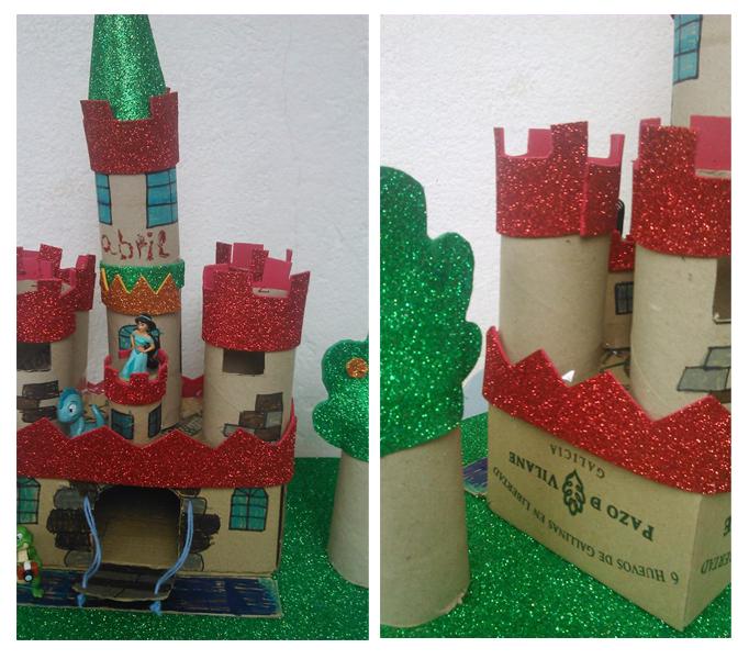 Los peques crean casas, edificios y castillos con la caja de huevo campero Pazo de Vilane