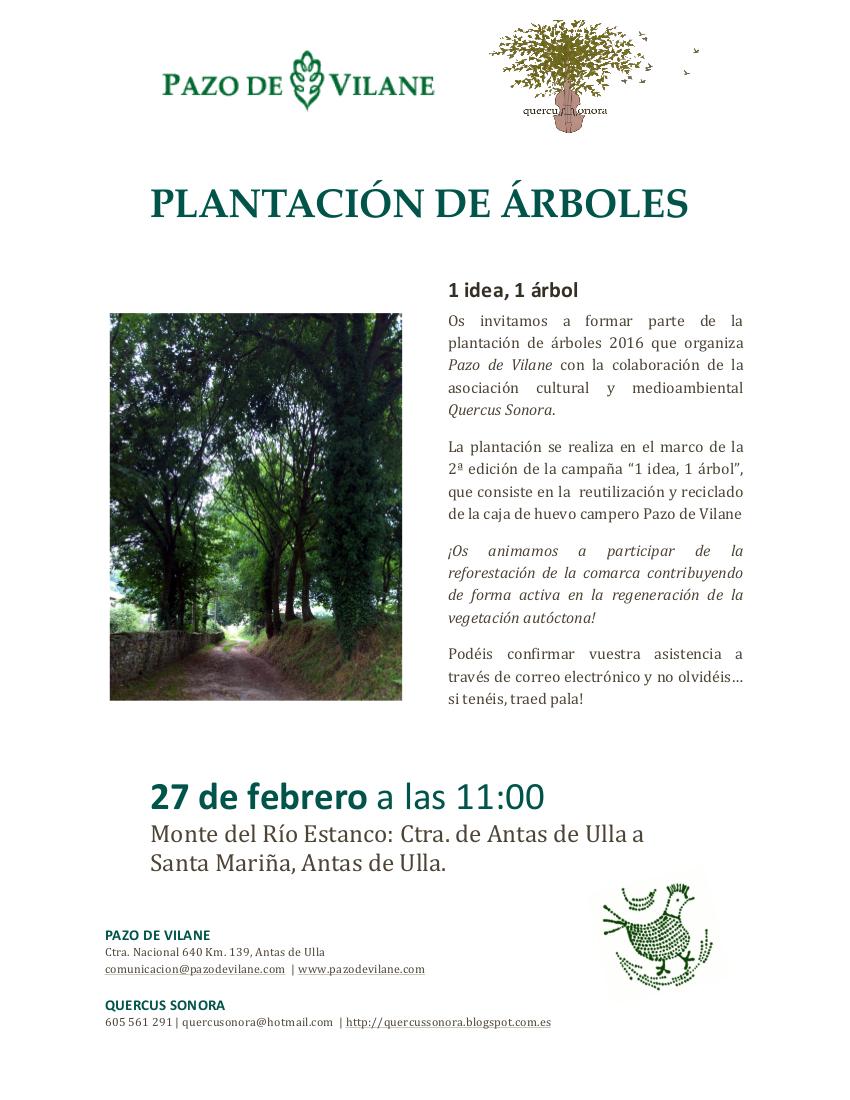 """27 de Febrero: Plantación de árboles en el marco de la campaña """"1 idea, 1 árbol"""""""