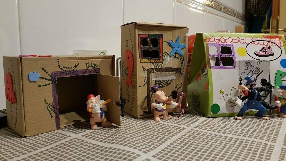 Cuentos clásicos infantiles inspiran a los más pequeños a reutilizar la caja de huevo