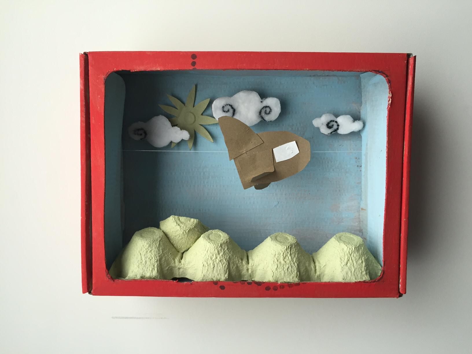 Más propuestas artísticas para niños con la caja de huevo campero Pazo Vilane