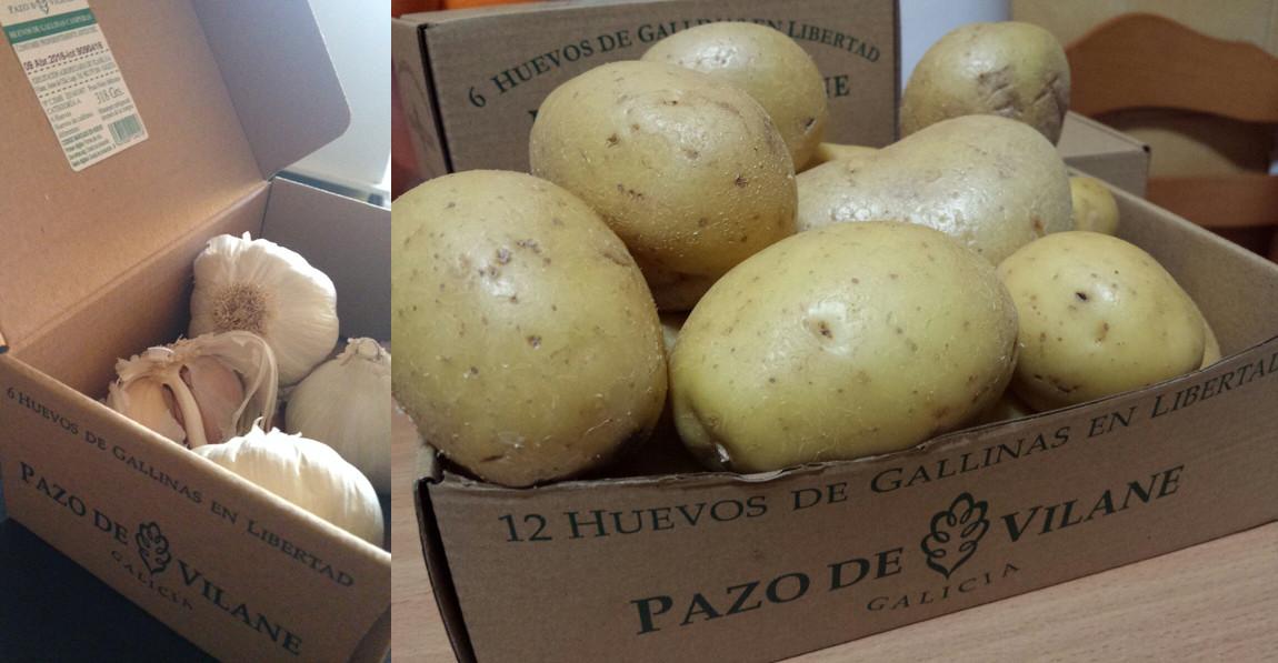 Conserva verduras de forma sostenible con la caja de huevo campero Pazo de Vilane