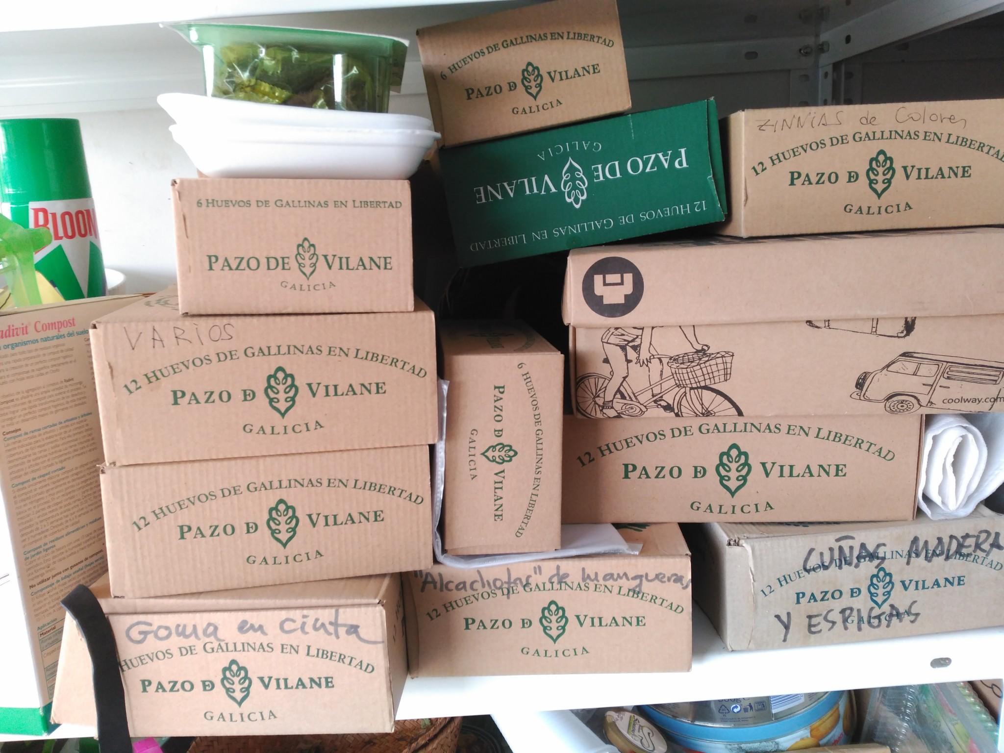 La caja de huevo campero Pazo de Vilane: perfecta para el almacenaje