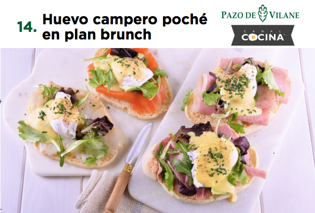 Huevo campero poché en plan brunch