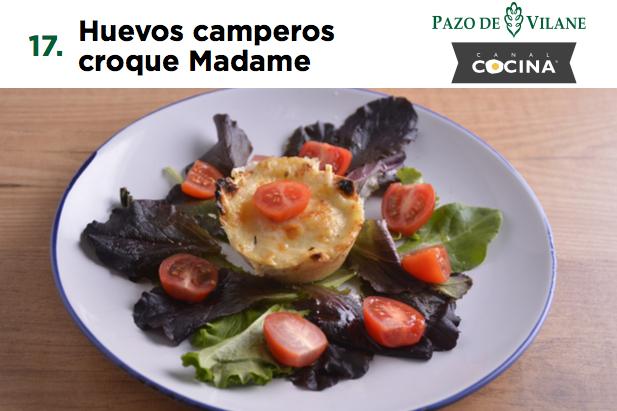 Huevos camperos croque Madame