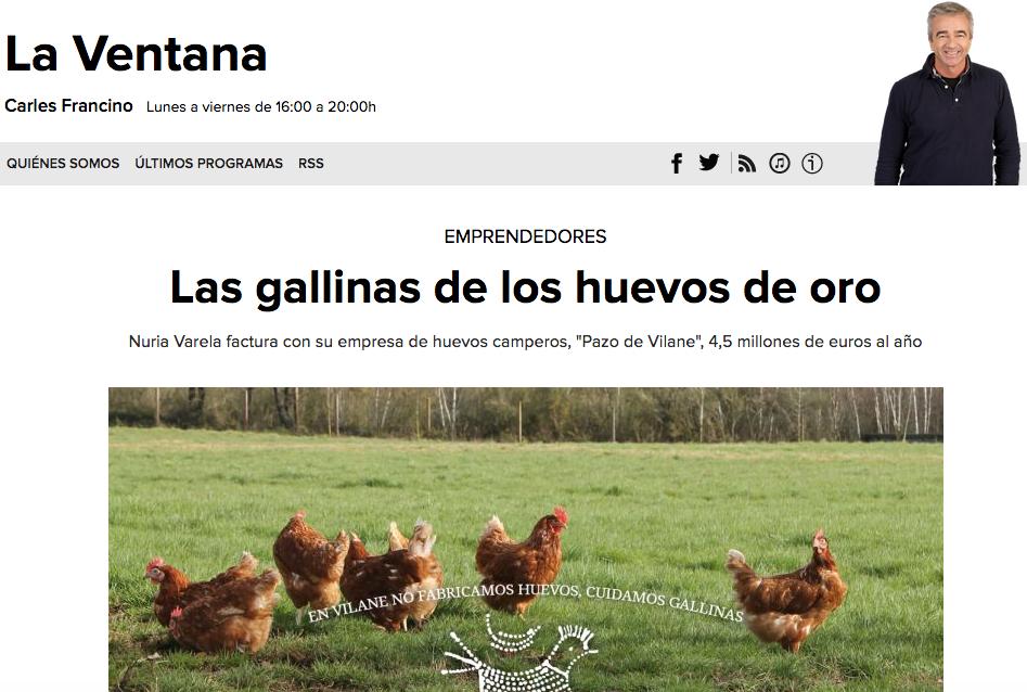 Las gallinas de los huevos de oro