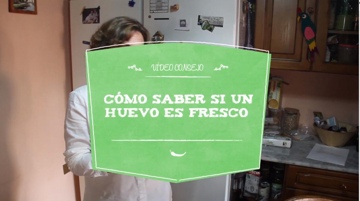 Vídeo consejo de Nuria: cómo saber si un huevo es fresco