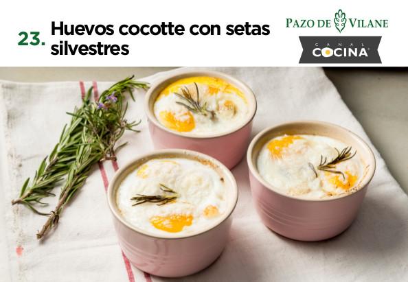 Huevos cocotte con setas silvestres