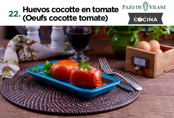 Huevos cocotte en tomate (Oeufs cocotte tomate)