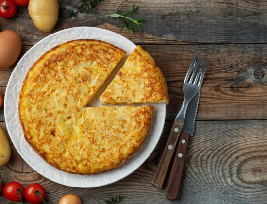 Receta tortilla de patatas de Pazo de Vilane
