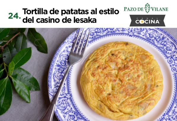 Tortilla de patatas al estilo del casino de Lesaka