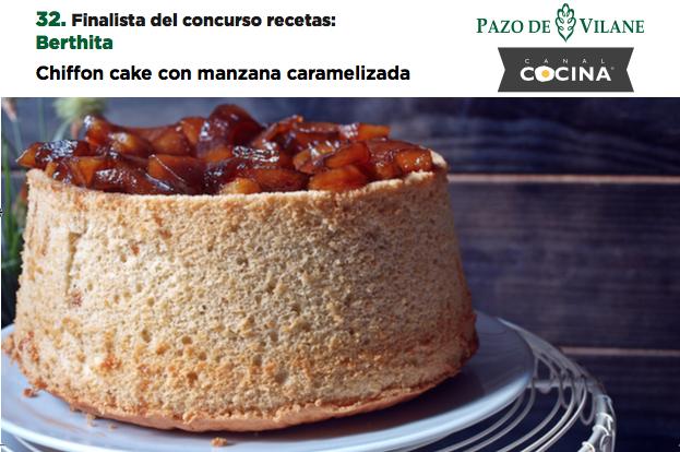 Chifon cake con manzana caramelizada