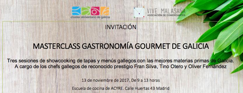 Pazo de Vilane te invita a participar en una masterclass de gastronomía gallega