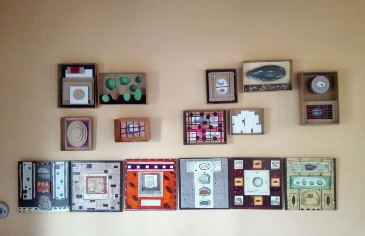 Cuadros decorativos con la caja de huevo campero Pazo de Vilane