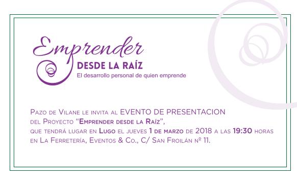 Jueves 1 de marzo: presentación de Emprender desde la raíz en Lugo
