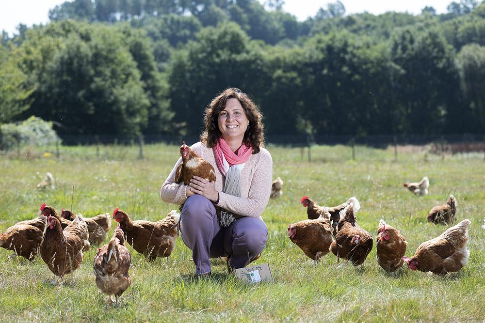 """El lema """"En Pazo de Vilane no fabricamos huevos, cuidamos gallinas"""" hace referencia a una nueva visión de avicultura"""