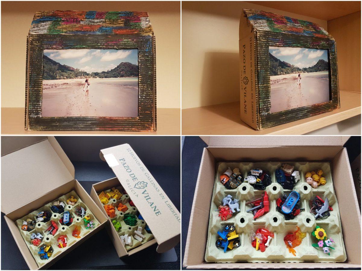 La caja de huevos camperos Pazo de Vilane se convierte en un portarretratos