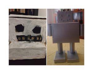Robots creados con la caja de huevos camperos Pazo de Vilane
