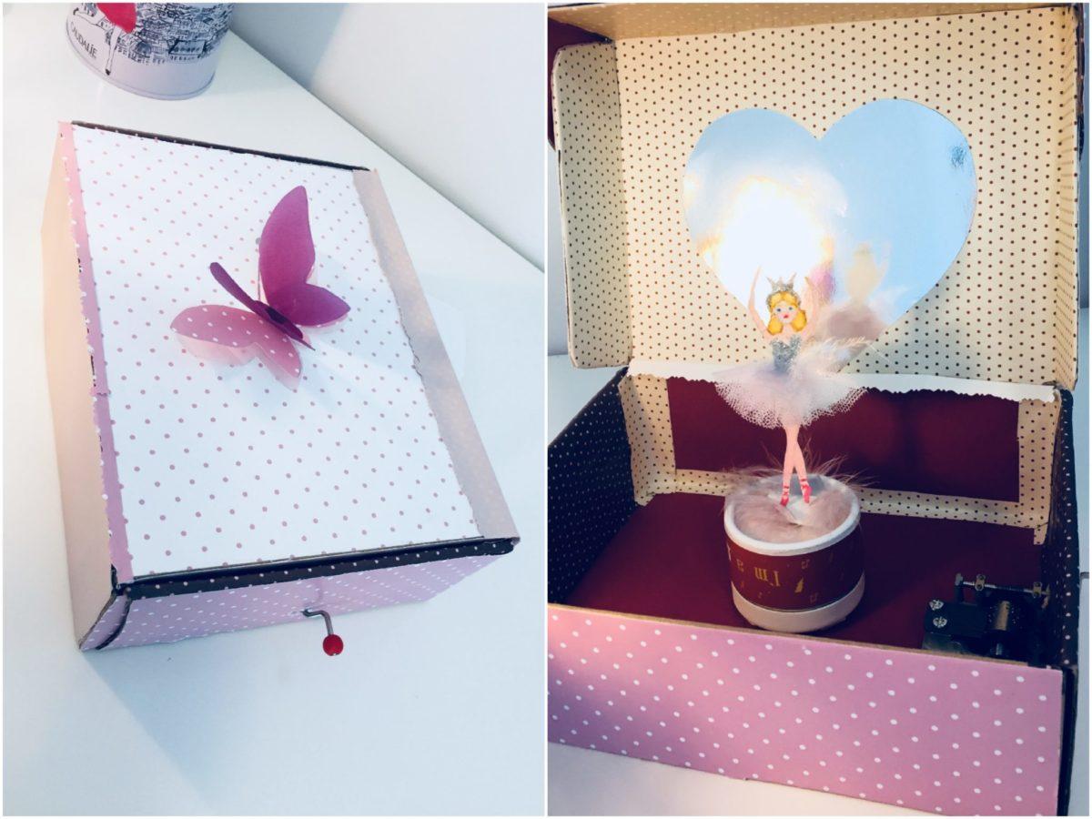 Una caja de música creada con la caja de huevos camperos Pazo de Vilane