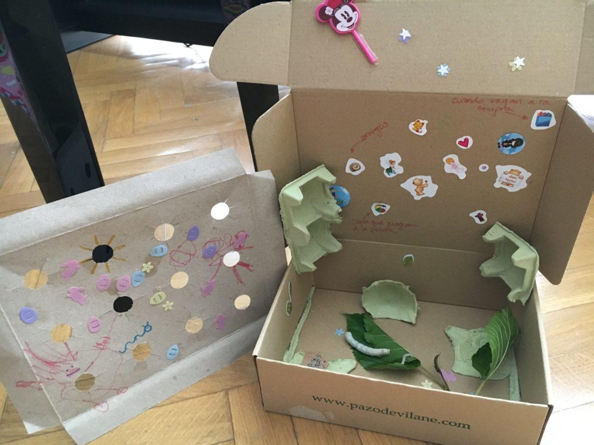 La caja de huevos camperos Pazo de Vilane acompaña el ciclo vital del gusano de seda