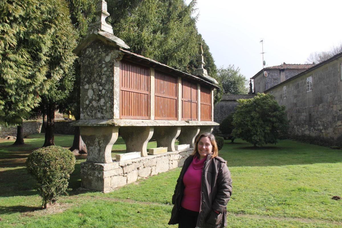 María es la responsable coordinar y planificar la distribución del huevo campero Pazo de Vilane