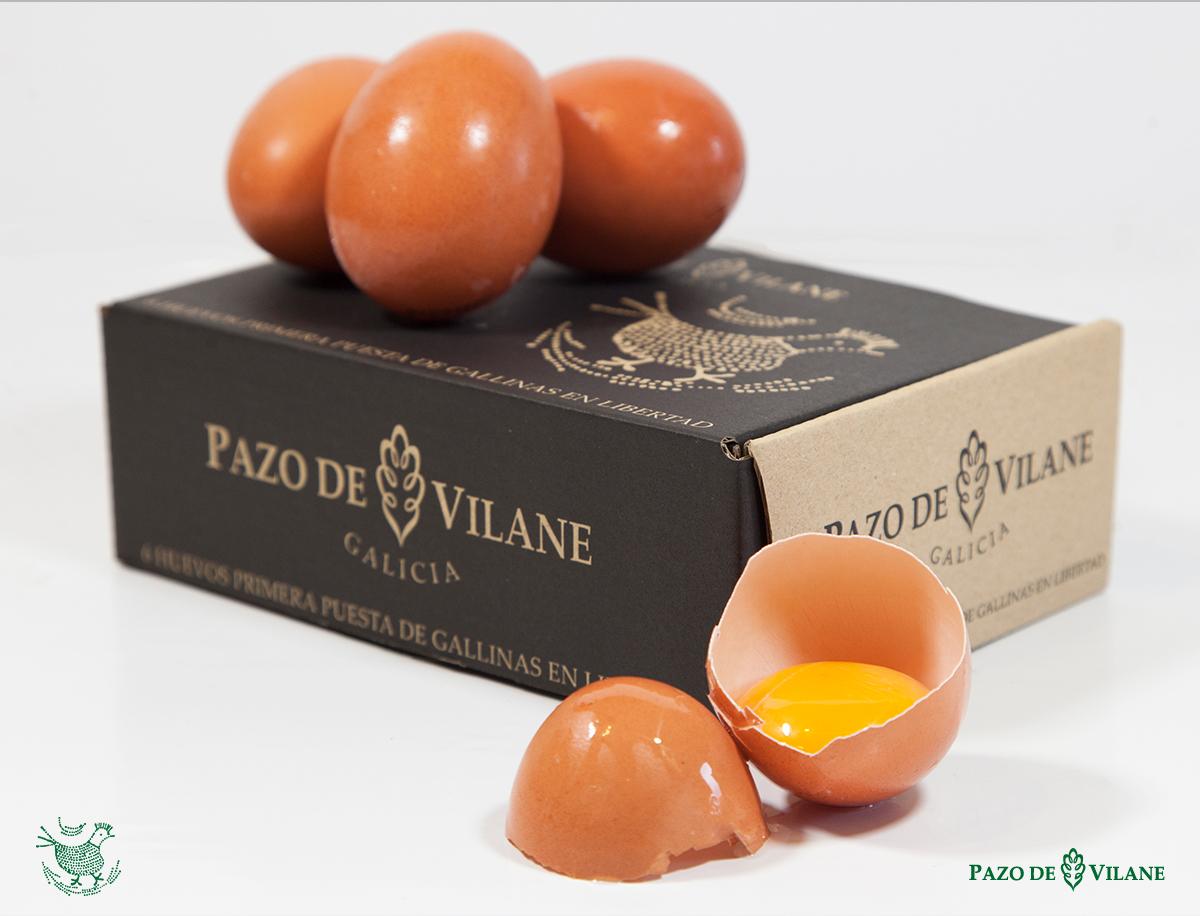 Caja de huevos S o huevos de primera puesta Pazo de Vilane