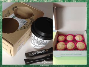 ¿Café con magdalenas y bombones en la caja de Pazo de Vilane? ¡Por favor!