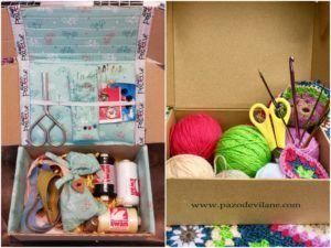 Crea tu costurero ideal con la caja de huevos camperos Pazo de Vilane