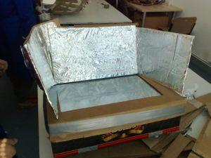 La caja de huevo campero Pazo de Vilane se transforma en un horno solar