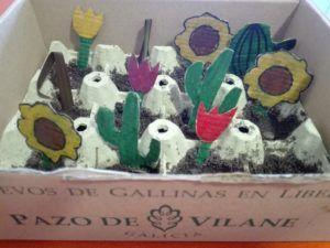 La caja de huevos camperos es ideal para construir semilleros