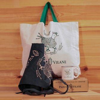 Delantal, bolsa y taza de Pazo de Vilane