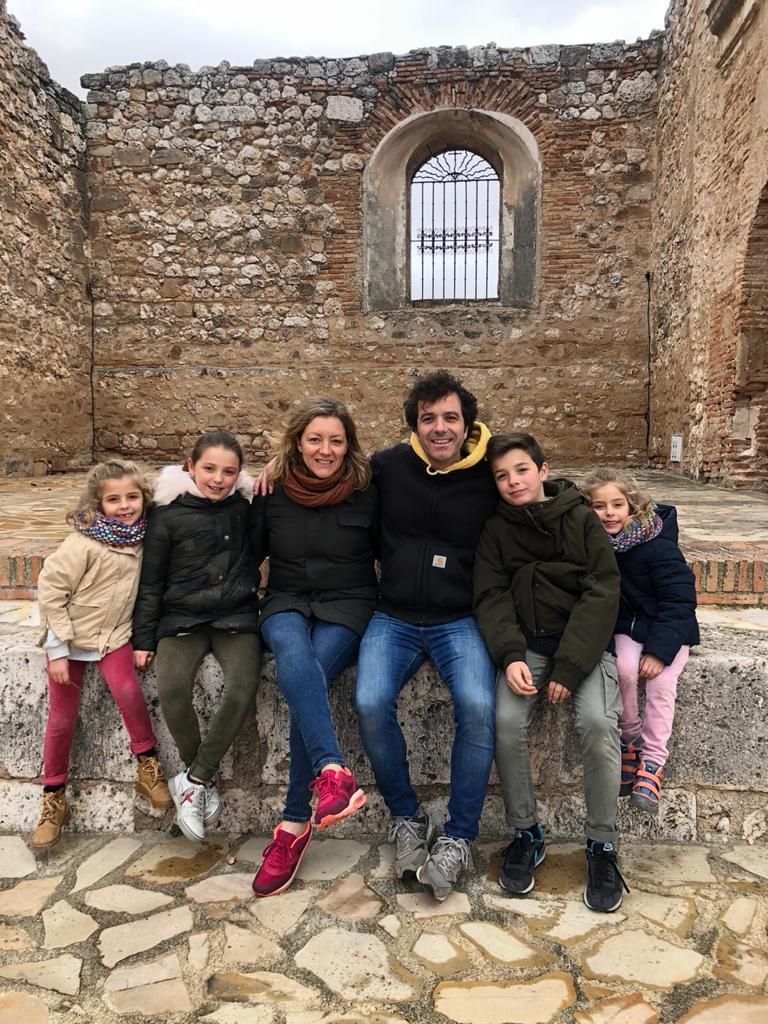 Bruno, con su familia, protagonista de una de nuestras historias de la cuarentena.