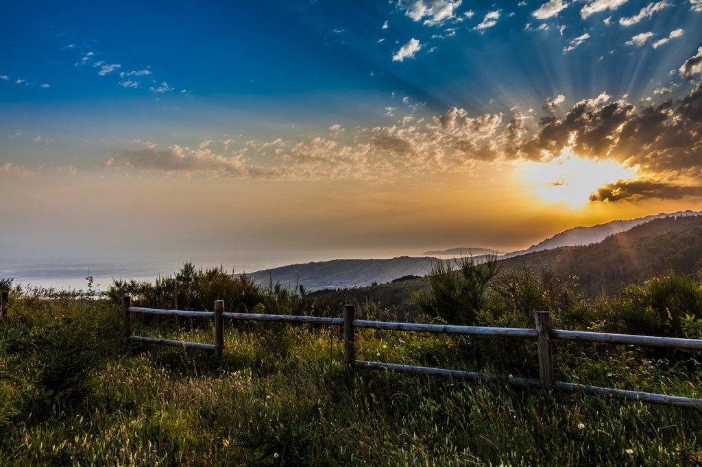 Vista de Galicia al atardecer.