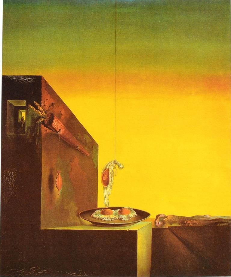 Huevos al plato sin plato, de Salvador Dalí, una visión original de los huevos y el arte.