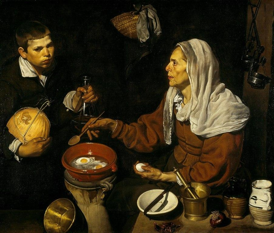 Vieja friendo huevos, de Velázquez, una de las mayores obras de arte del pintor español.