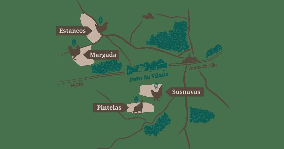 Mapa virtual Vilane