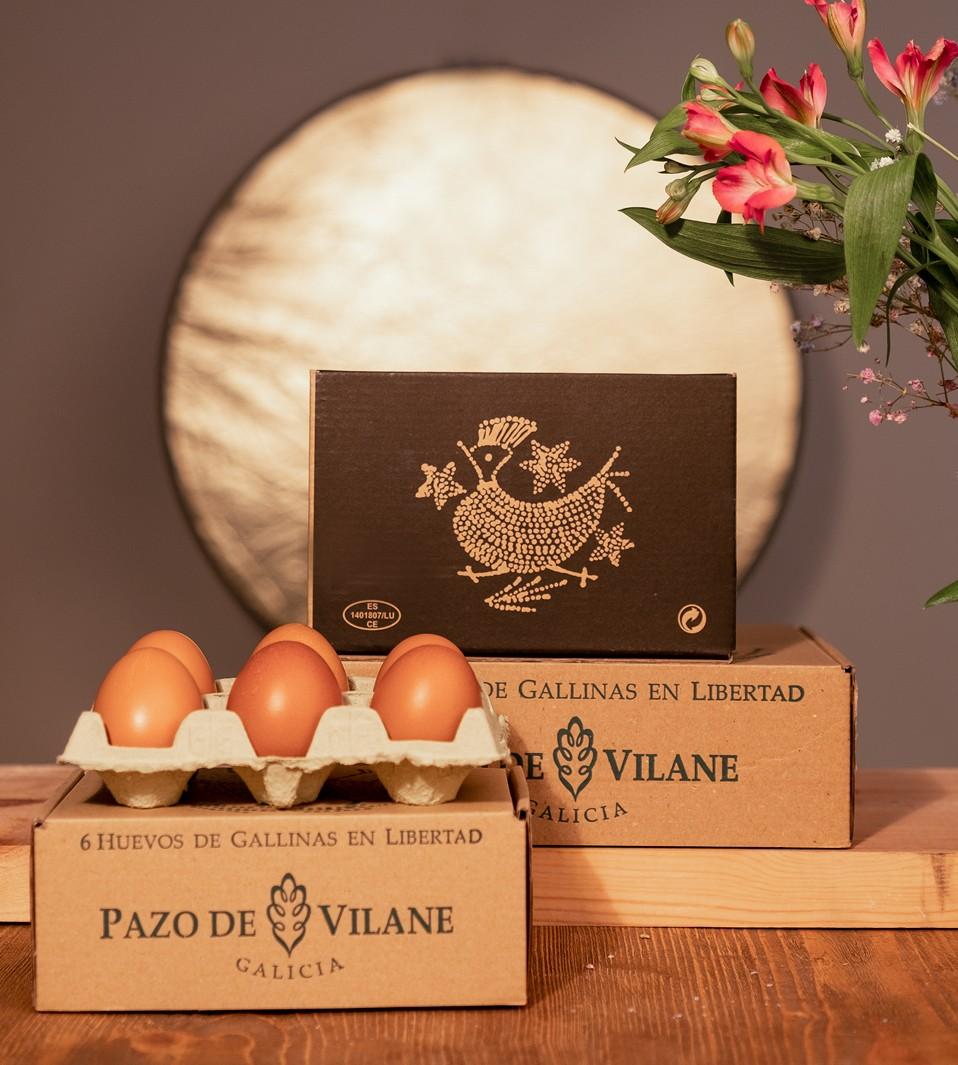 Huevos camperos de Pazo de Vilane