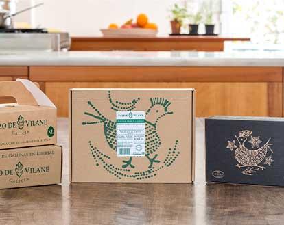 Pazo de Vilane free-range egg boxes