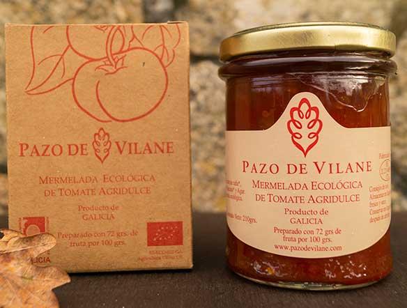 Mermelada artesanal de tomate agridulce de Pazo de Vilane