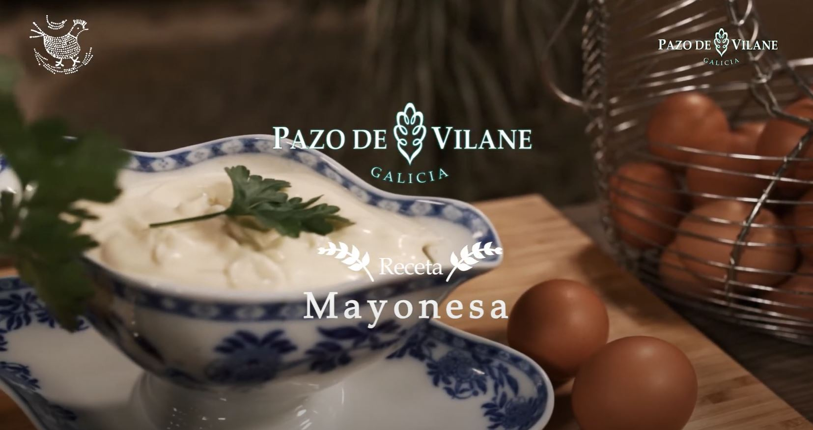 Mayonesa casera hecha con huevos camperos del Pazo de Vilane