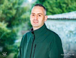Santiago Rodríguez Gómez, gestor de operaciones de Pazo de Vilane y papá viajero