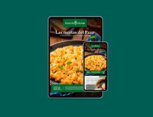 """Suscríbete a nuestro boletín y llévate gratis el libro digital interactivo """"Las recetas del Pazo"""""""