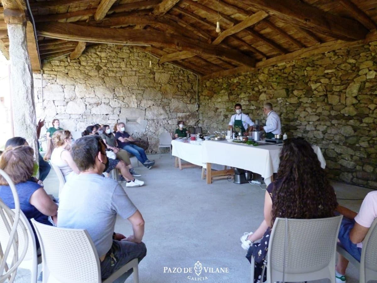 Clase de cocina en Pazo de Vilane