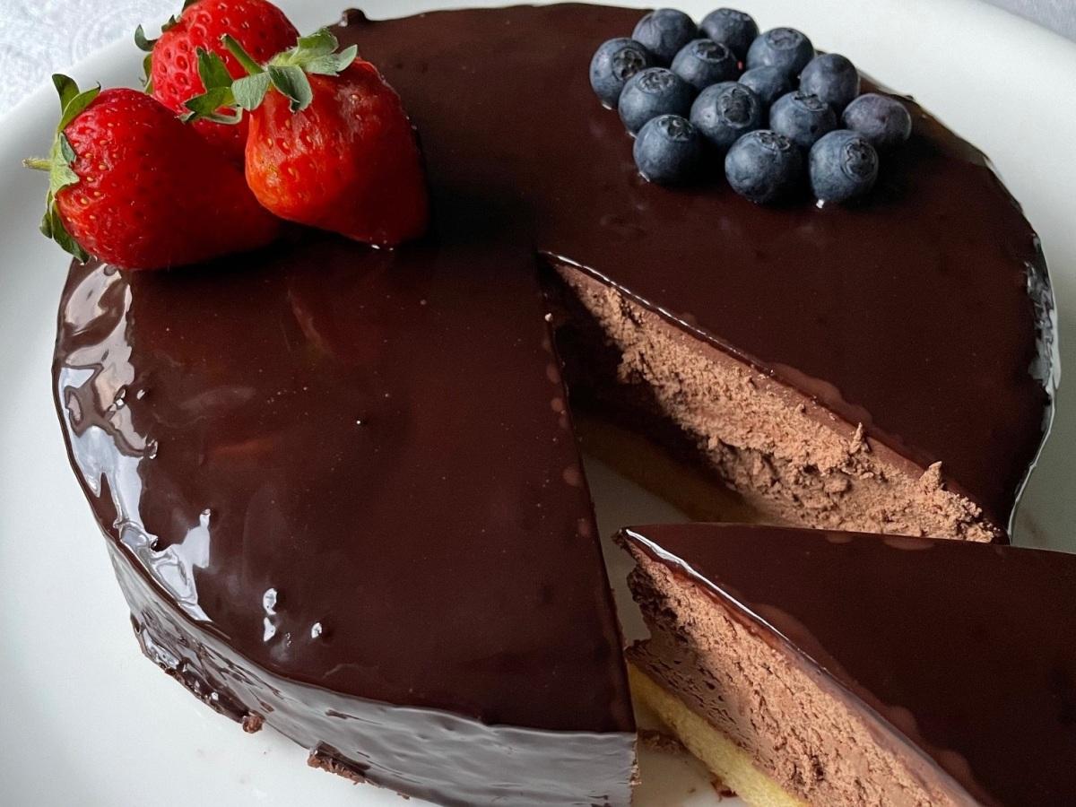 Tarta de Sablé Bretón y Mousse de Chocolate