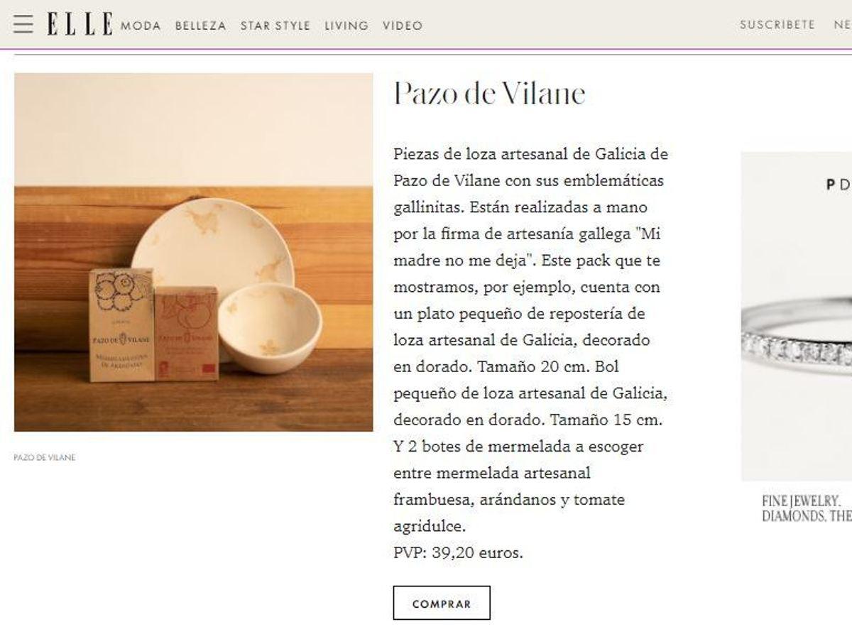Aparición de Pazo de Vilane en Revista ELLE.