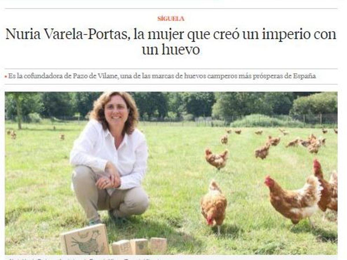 Aparición en La Vanguardia de Pazo de Vilane.