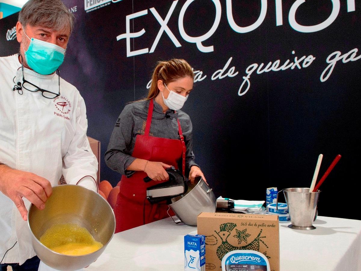Pablo Gallego y Lucía Freitas en la presentación de Exquisiña